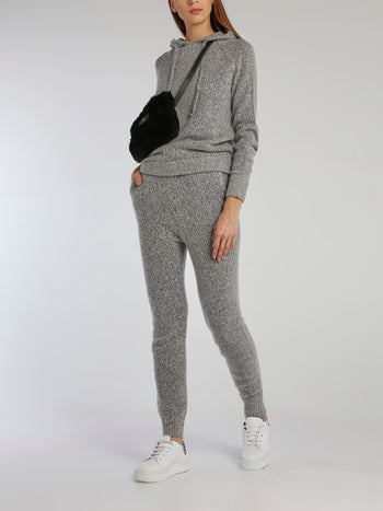 Paolo Grey Cable Knit Track Pants