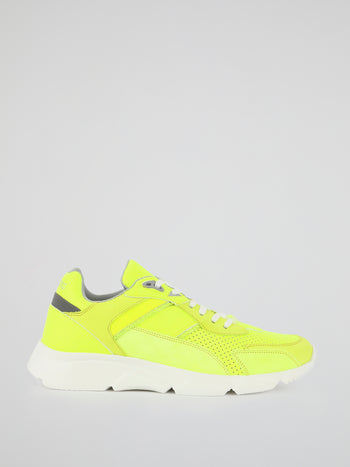 Neon Perforated Active Sneakers