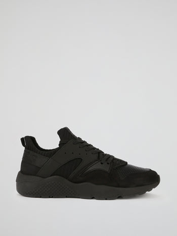 Black Perforated Panel Active Sneakers