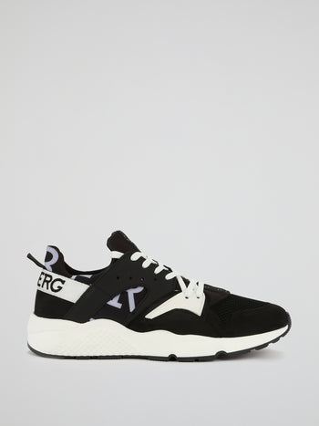 Black Contrast Active Sneakers