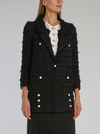 Black Embellished Tweed Jacket