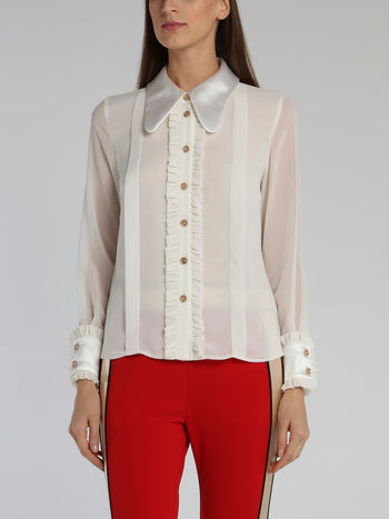 White Long Sleeve Victorian Blouse