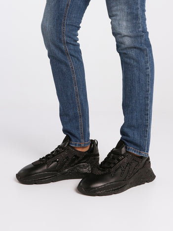 Black Studded V1PER Sneakers