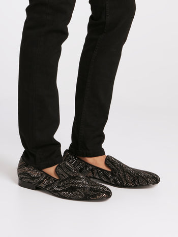 Black Multi-Stud Loafers