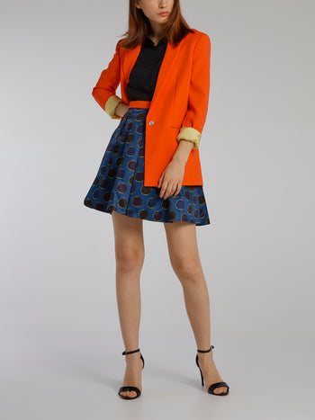 Orange Folding Sleeve Blazer
