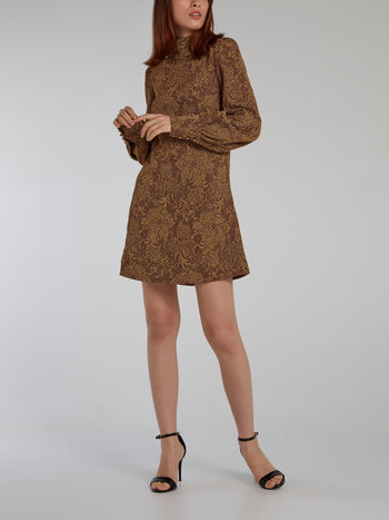 Gold Bishop Sleeve Baroque Dress
