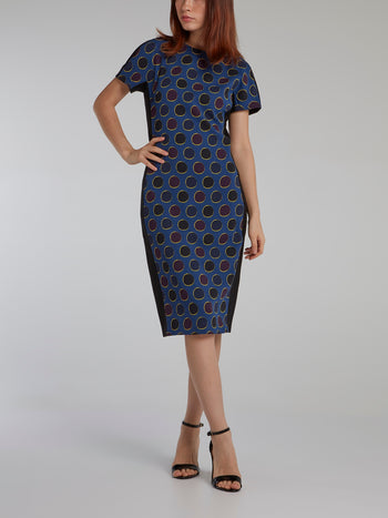 Polka Dot Sheath Midi Dress
