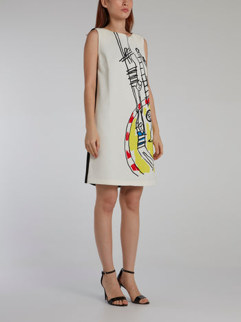Doodle Print Shift Mini Dress