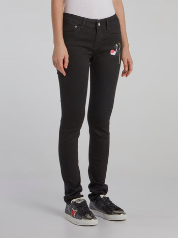 Sylvester The Cat Black Skinny Jeans