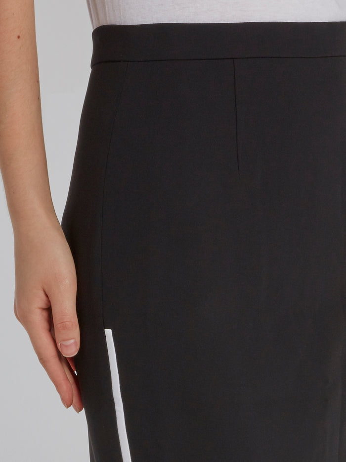 Black High Rise Pencil Skirt