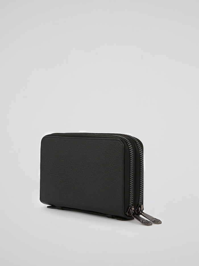 PP1978 Black Textured Leather Document Holder
