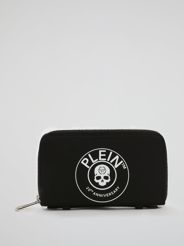 Black Skull Print Document Holder