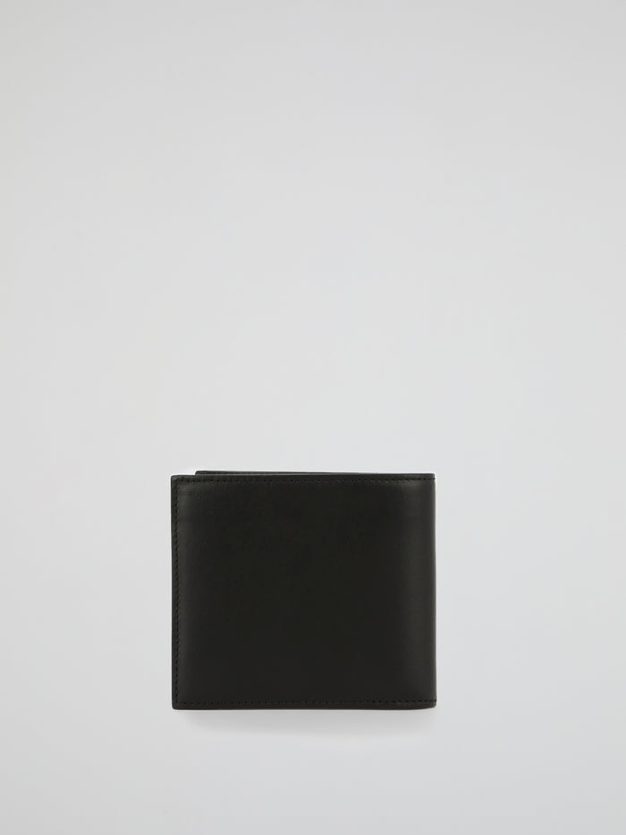 Black Monogram Patched Leather Wallet