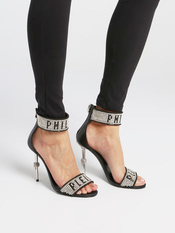 Crystal Plein High-Heel Sandals