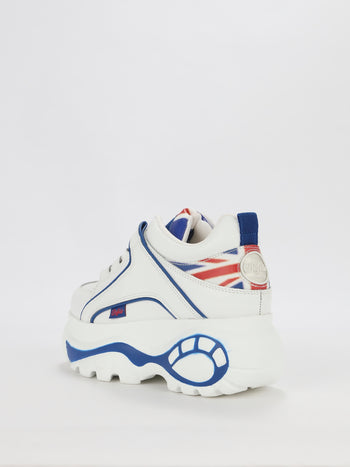 UK Flag Classic Platform Sneakers