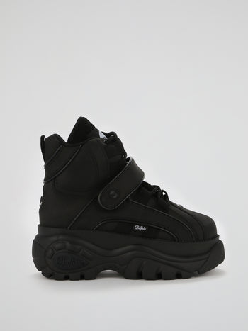 Black High Top Chunky Sneakers