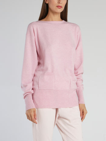 Kelly Pink Ribbed Trim Top