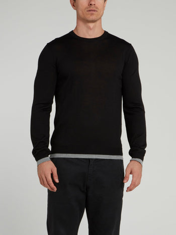 Black Rear Logo Sweater