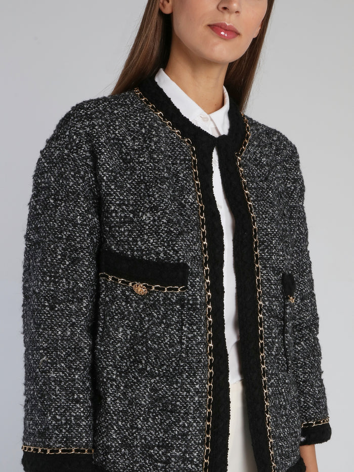Black Tweed Short Coat