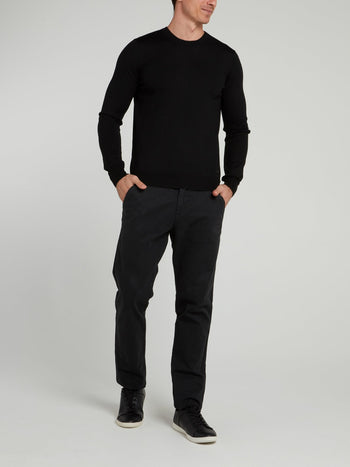 Black Rear Stripe Sweater