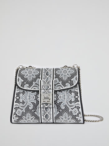 White Adamantia Lace Shoulder Bag