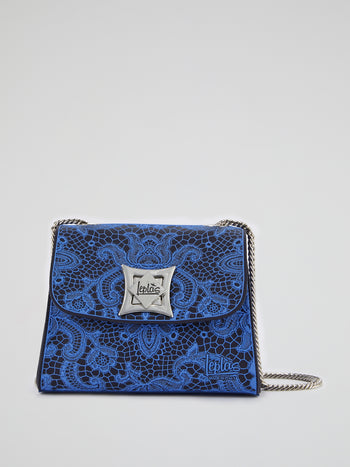 Blue Mignon Lace Shoulder Bag