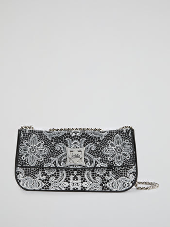 White Elide Lace Shoulder Bag