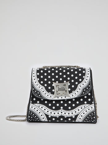 Black Mignon Polka Dot Pois Bag
