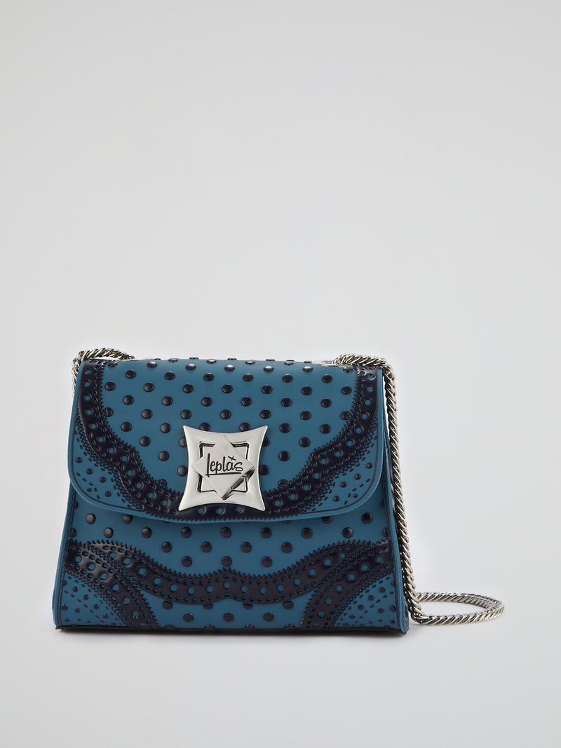 Blue Mignon Polka Dot Pois Bag