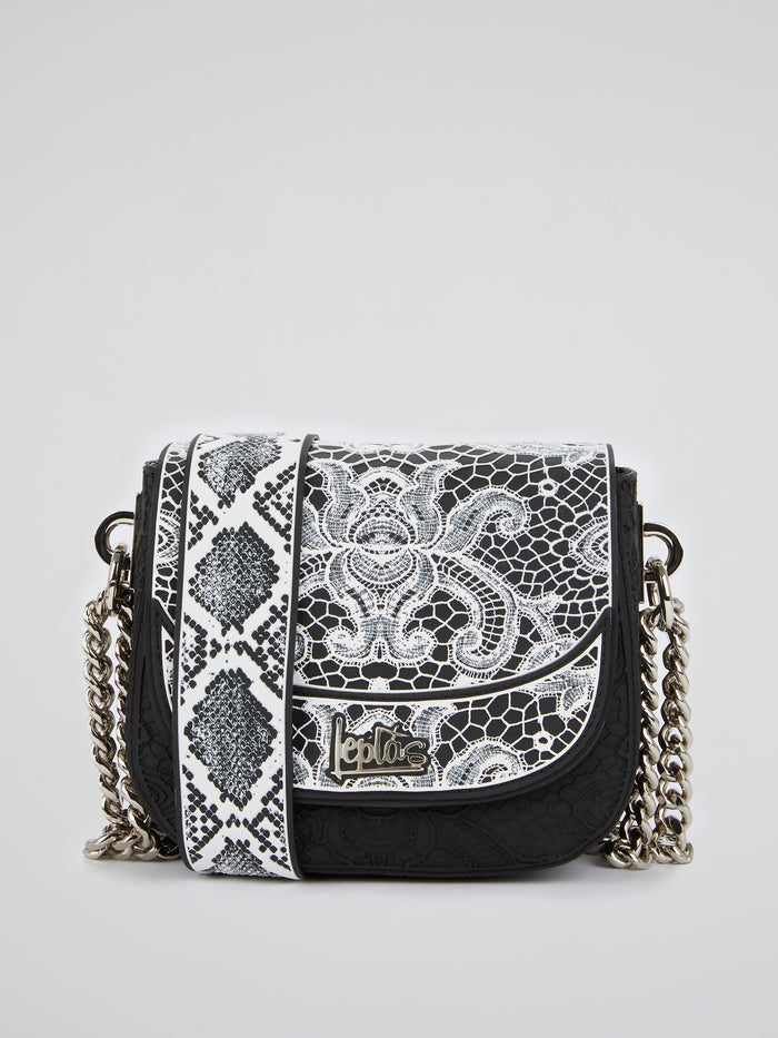 White Mini Dafne Lace Shoulder Bag