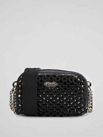 Black Eliana Mirror Shoulder Bag