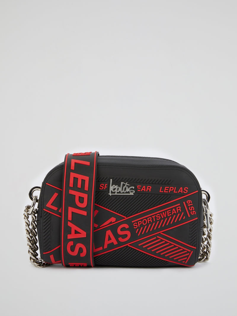 Black Eliana Neon Shoulder Bag