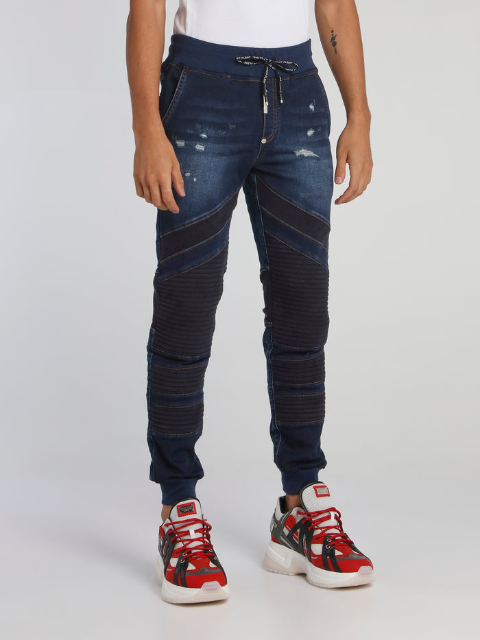 Navy Slim Shady Chill Fit Trousers