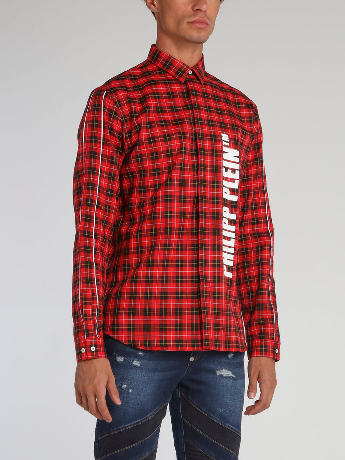 Red Check Button Up Shirt