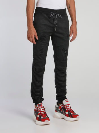 Black Slim Shady Chill Fit Trousers