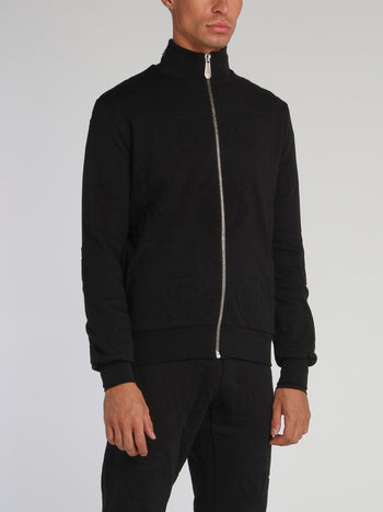 Black Logo High NeckJogging Jacket