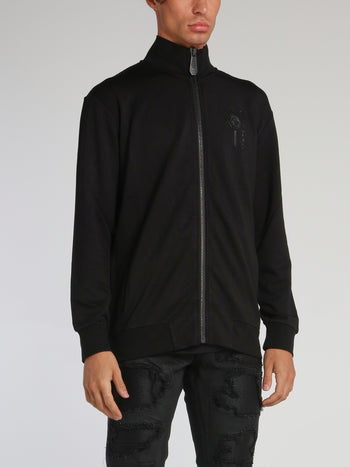Black Rear Skull Logo Jogging Jacket