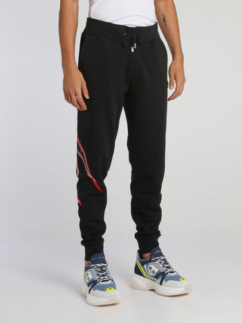 Space Plein Black Jogging Trousers