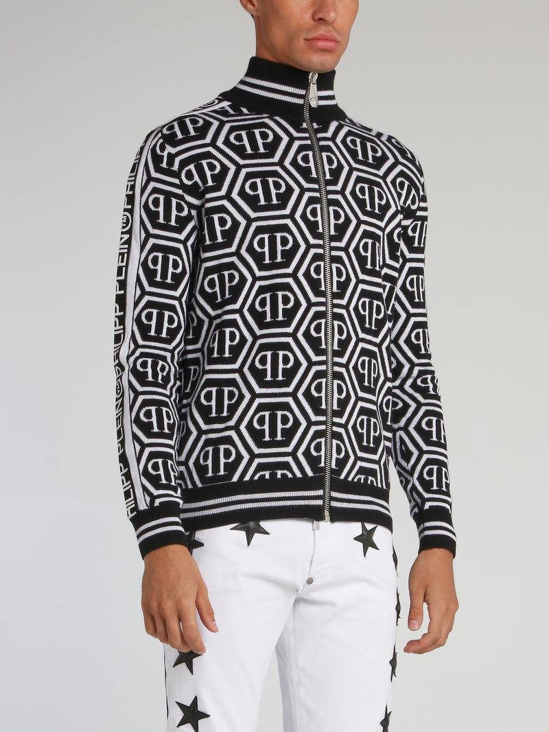 Monogram All Over Knit Jacket
