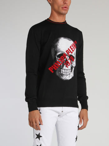 Skull Logo Sweat Top