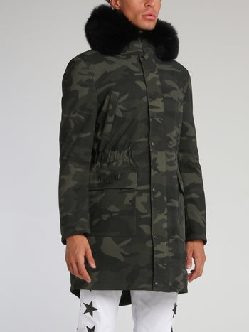 Camo Fur Trim Parka