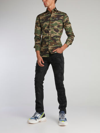 Camo Button Up Shirt