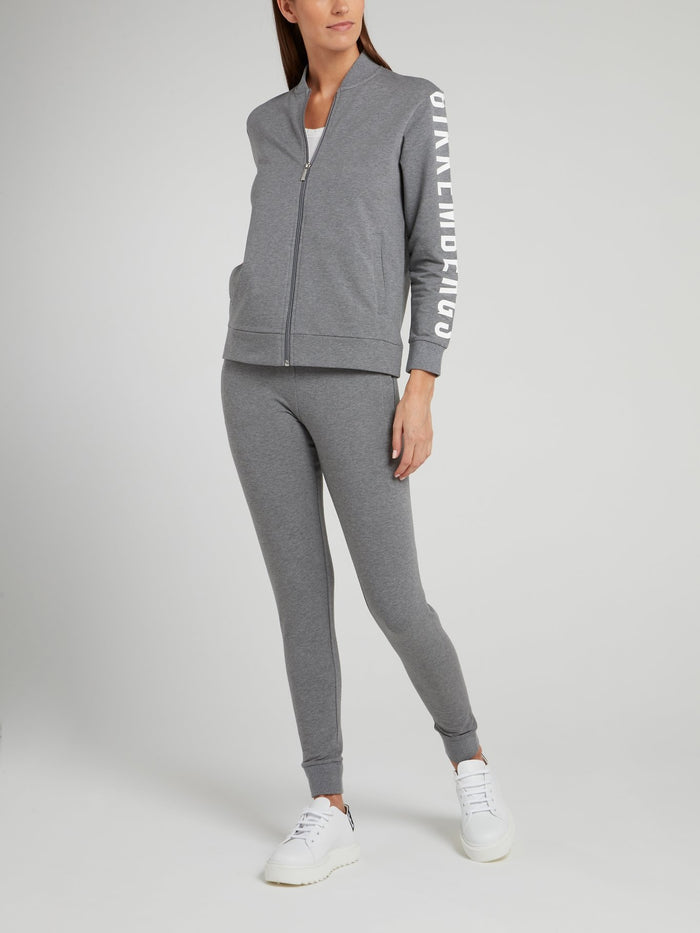 Grey Knitted Fleece Pants
