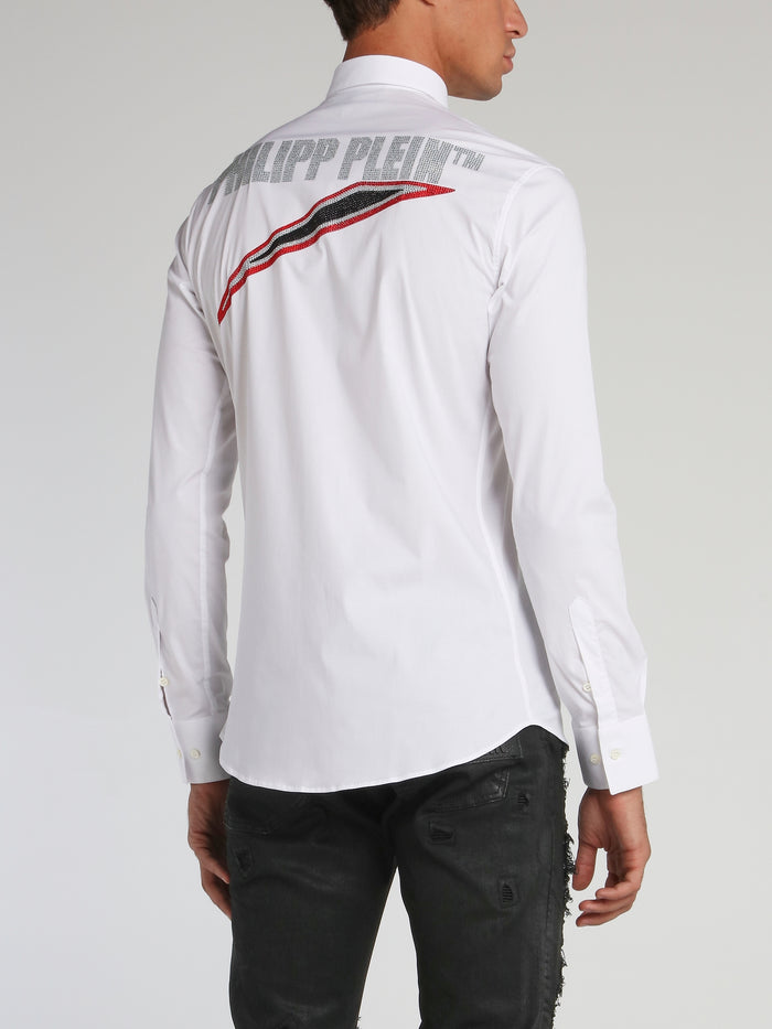 Space Plein White Long Sleeve Shirt