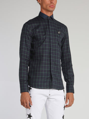 Tartan Navy Check Long Sleeve Shirt