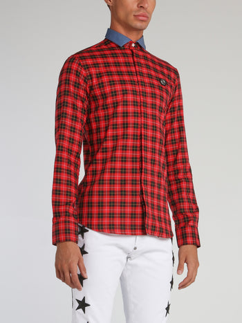 Tartan Red Check Long Sleeve Shirt
