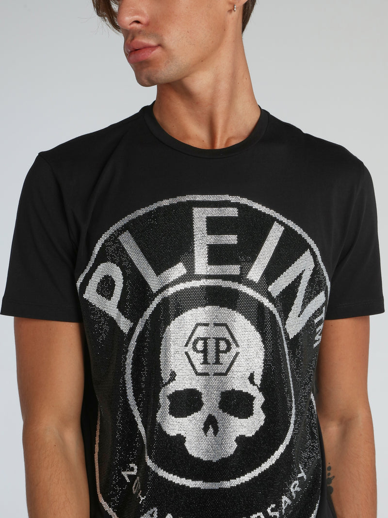 Black Multi-Stud Skull T-Shirt