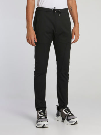 Black Carrot Fit Drawstring Pants