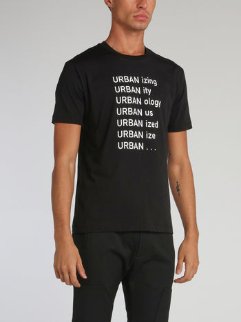 Black Urbanizing Round Neck T-Shirt