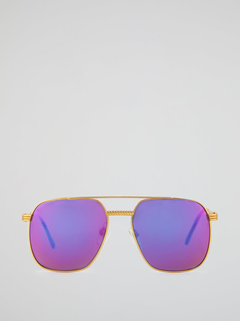 VF 034 Purple Mirror Lens Sunglasses